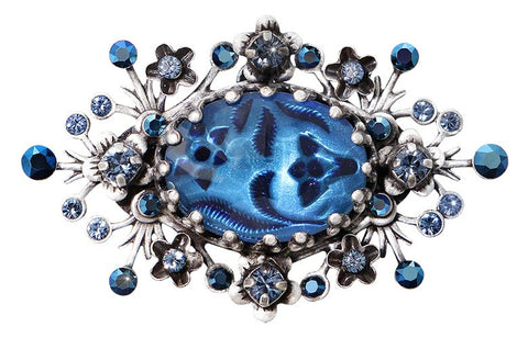 brooch Eternal Glory blue antique silver
