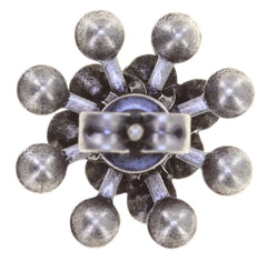 earring stud Magic Fireball light pastel multi antique silver Classic Size (21mm Ø)