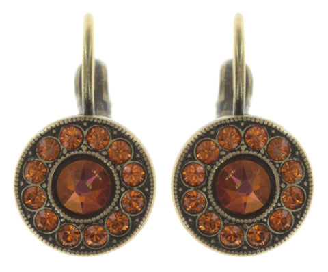 earring eurowire Spell on You orange antique brass
