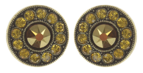 earring stud Spell on You yellow antique brass