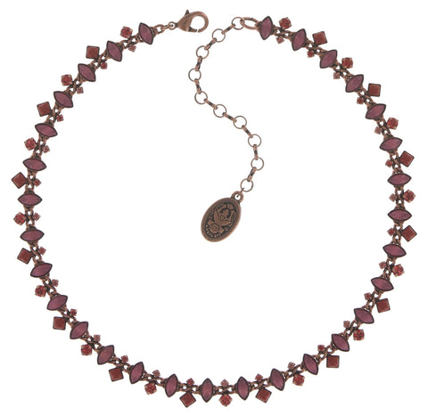 necklace Mini Treasure II coralline Light antique copper