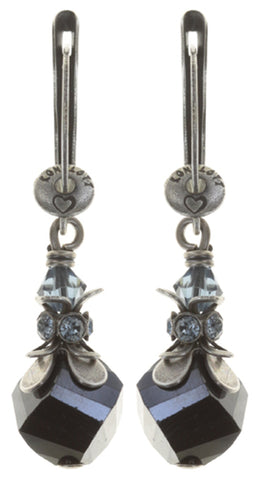 earring dangling Pineapple blue antique silver