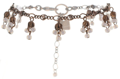 bracelet Forget Me Not pink antique copper