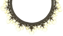 necklace choker Aquarell yellow antique brass