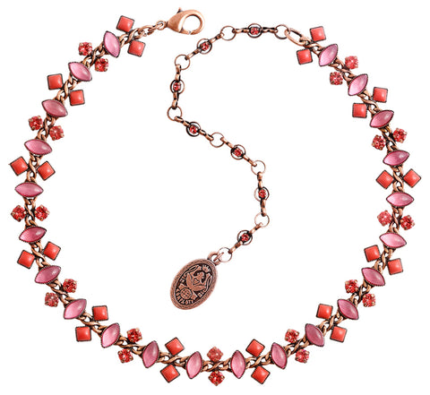 necklace choker Mini Treasure II coralline Light antique copper