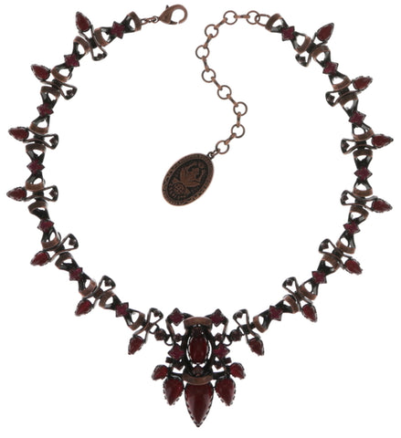 necklace Dracula red dark antique copper