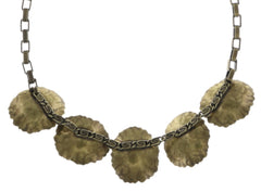 necklace Samurai Bloom grey antique brass no. 5