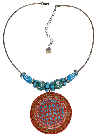 necklace Ab Originum brown/blue antique brass