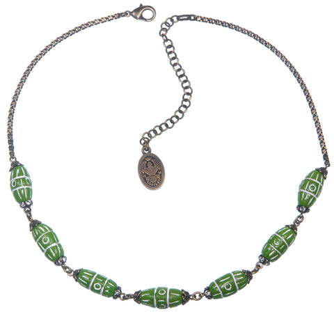necklace Ab Originum green antique brass