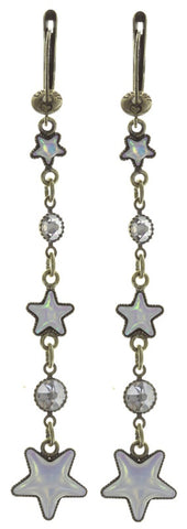 earring dangling Sterntaler white antique brass