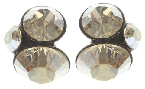 earring stud Disco Star golden shadow antique silver