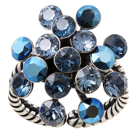 ring Magic Fireball blue antique silver Classic Size (21mm Ø)