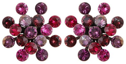 earring stud Magic Fireball red/lila antique copper