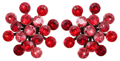 earring stud Magic Fireball red antique copper