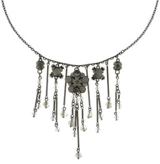 necklace Lost Garden white Light antique silver