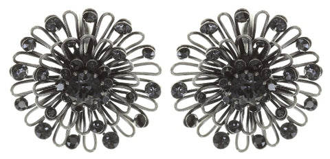 earring eurowire Distel black antique silver small