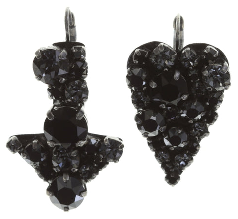 earring eurowire You Missed It black dark antique silver smallest