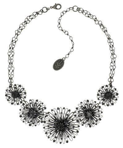 necklace Distel black antique silver