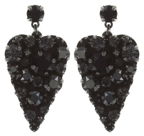earring stud dangling You Missed It black dark antique silver