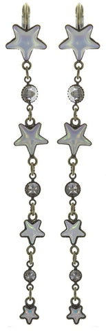earring eurowire dangling Sterntaler white antique brass