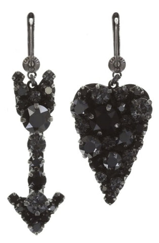 earring dangling You Missed It black dark antique silver smallest
