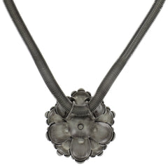 necklace pendant MyRouge grey antique silver large