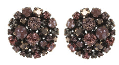 earring stud Ballroom pink antique copper