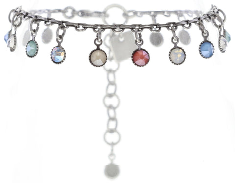 bracelet Waterfalls pastel multi antique silver