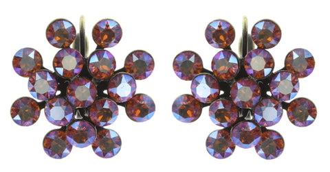earring eurowire Magic Fireball brown/orange antique brass