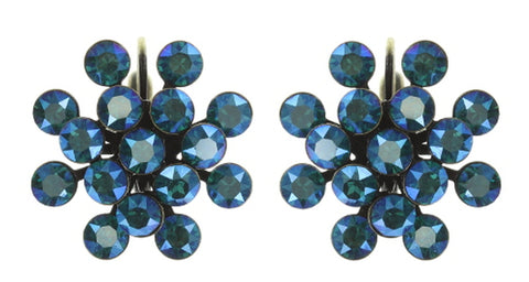 earring eurowire Magic Fireball blue/green antique brass