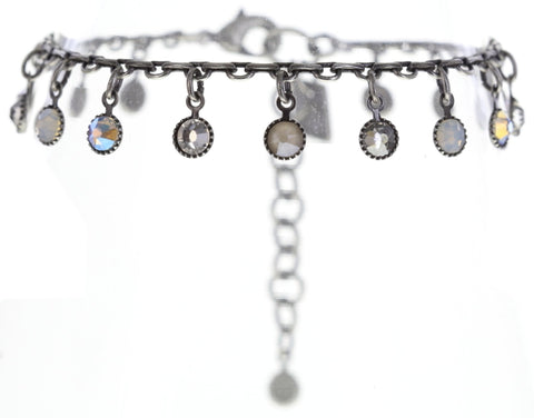 bracelet Waterfalls white/grey antique silver