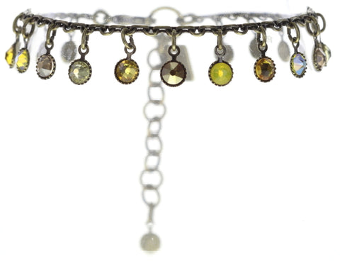 bracelet Waterfalls yellow antique brass