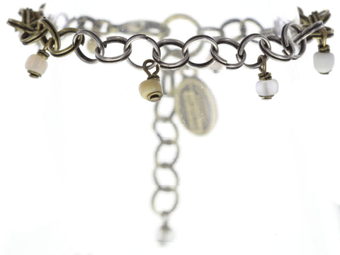 bracelet Jumping Rings white antique brass/antique silver
