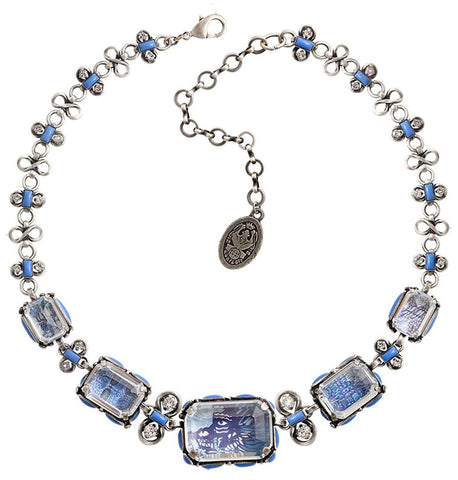 necklace Color on the Rocks blue antique silver size XL,L,M