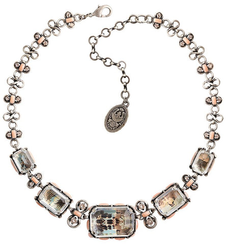 necklace Color on the Rocks rose antique silver size XL,L,M