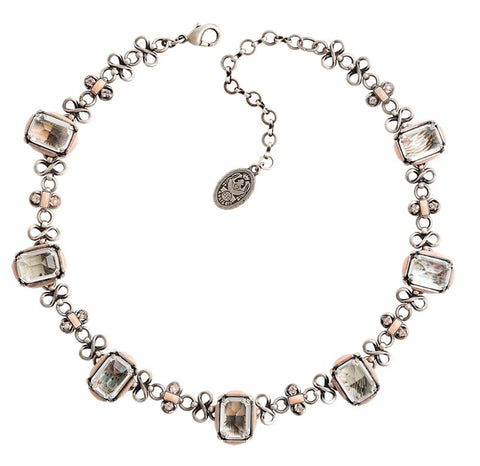 necklace Color on the Rocks rose antique silver size M