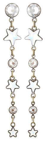earring stud dangling Sterntaler white antique brass