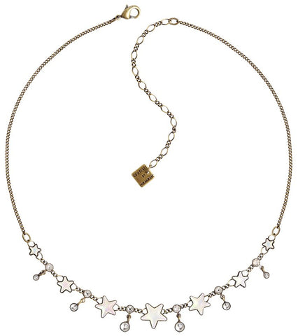 necklace Sterntaler white antique brass