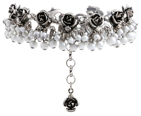 bracelet Indian Roses grey antique silver extra small