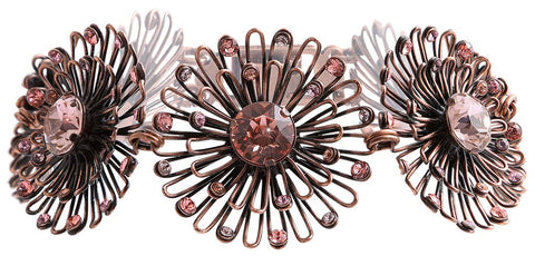 bracelet Distel pink antique copper small