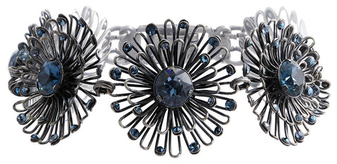 bracelet Distel blue Dark Antique Silver small