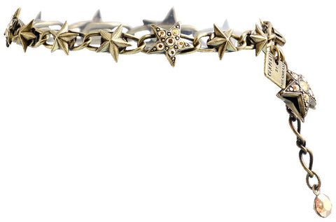 bracelet Dancing Star brown antique brass small, extra small