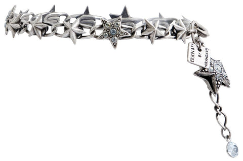 bracelet Dancing Star grey antique silver small, extra small
