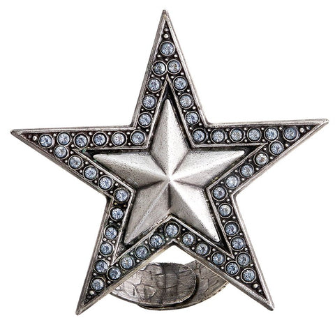 ring Dancing Star grey antique silver extra large