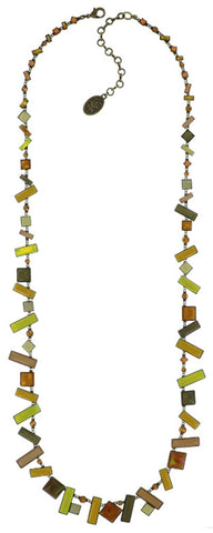 necklace (long) Shake to the Rhythm yellow antique brass
