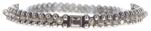 bracelet Bead Snakes grey antique silver