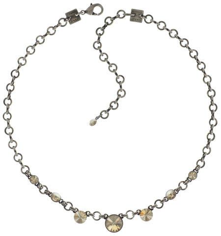 necklace Rivoli beige antique silver