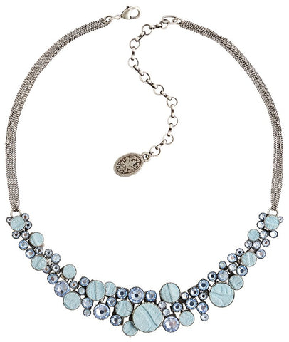 necklace Planet River blue antique silver