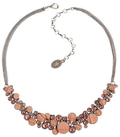 necklace Planet River beige/brown antique silver