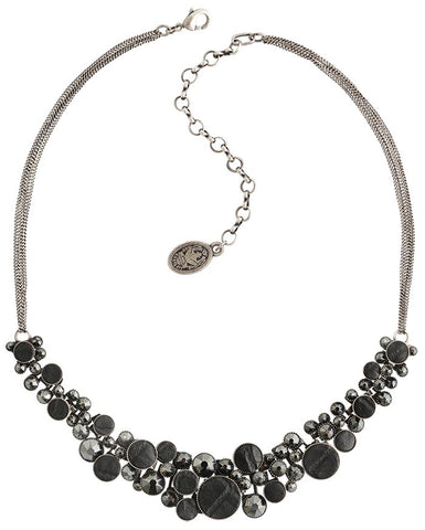 necklace Planet River black antique silver